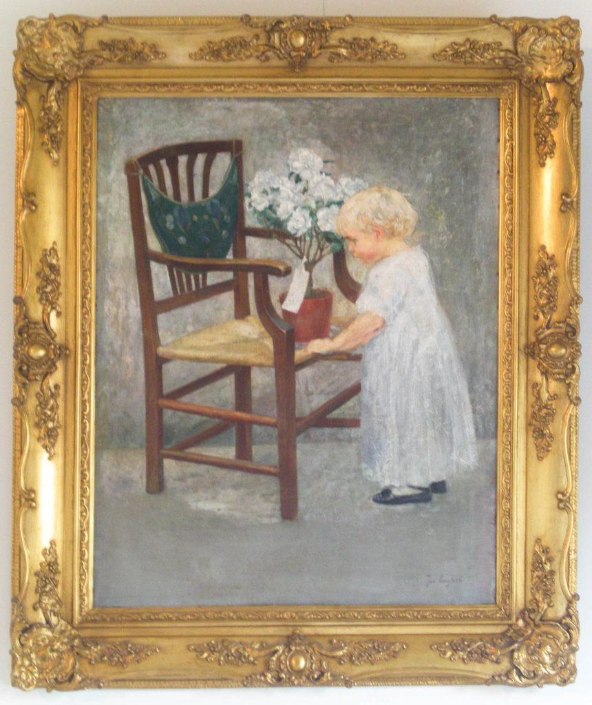 Joe English, Het éérste geschenk, (1913, olieverf op doek, 58 x 73)